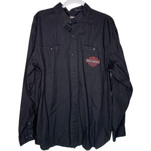 Men's Vintage Harley Davidson Willie G Skull Shirt